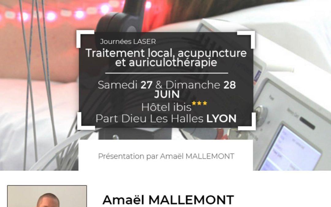Journées Laser – Traitement local, Acupuncture et Auriculothérapie